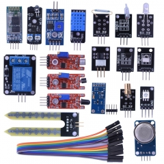 Kuman 20 in 1 Sensor Modules Kit with Hc06 bluetooth Sensor Module for Arduino UNO R3 Mega2560 Mega328 Nano KY63