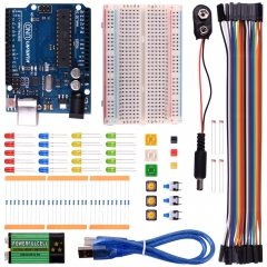 Kuman Basic Learning Starter Kit for Arduino with UNO R3 AVR MCU Learner Up 20 Components (with UNO R3) K22