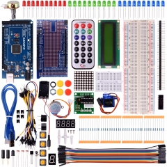 Kuman Mega 2560 Starter Kit for arduino project, LCD Servo Motor Sensor Modules with MEGA 2560 Up to 35 components AVR MCU Learner K21