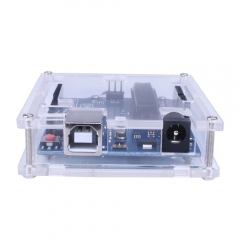 Kuman R3 Board ATmega328P with Transparent Gloss Acrylic Protection Case, Micro USB Cable K69