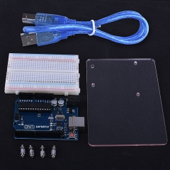 Kuman Uno R3 board ATmega328P with Acrylic Transparent Plate, Terminal Optimizer Breadboard, USB Cable K68