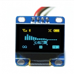 "Kuman Multi-color 0.96"" 128x64 IIC port OLED display module for Arduino Raspberry Pi KY34"