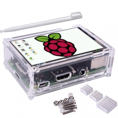 "Kuman 3.5"" 320*480 TFT LCD Display With Case for Raspberry Pi Pi 2, Pi 3 Model B #SC11"