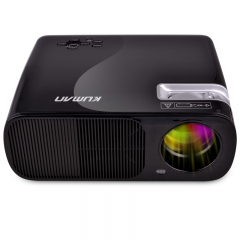 Kuman 1080P HD 2600 Lumens 800*480 Portable Projector with  for Home Theater Cinema #H2