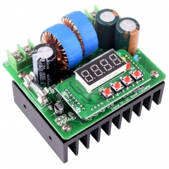 Kuman DC/DC Boost Converter with LED,  6V-40V to 8V-80V Step-up 400W/10A with LED QY02