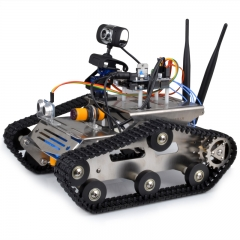 Kuman Arduino Project Smart Wifi HD Video Robot Car Tank Kit Controlled via PC Software iOS Android APP SM5