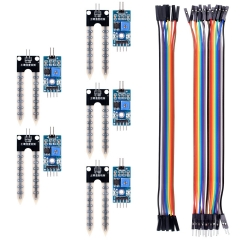 Kuman 5PCS Soil Moisture Sensor Kit with Jumer and DuPont cables for Raspberry pi Arduino Uno R3 Mega 2560  Automatic Watering System KY70