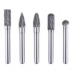 Kuman 5PCS 6x8mm Head Tungsten Rotary Point Carbide Burrs for Rotary Drill Die Grinder Carving Bit KLC01