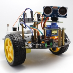 Kuman Smart 2 Wheel Obstacle Avoidance, Tracking, Utility Vehicle Arduino Robot Car Kit SM2