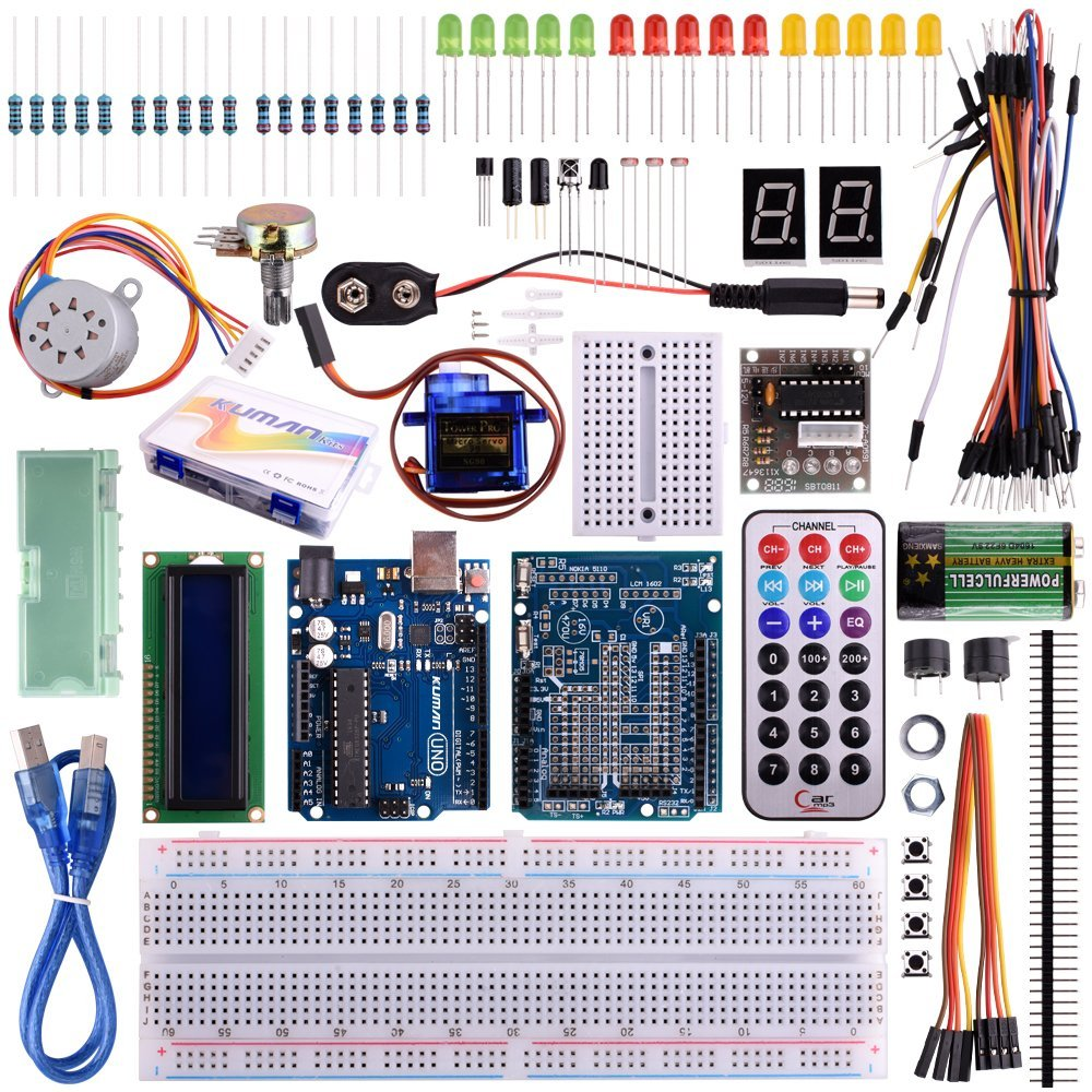 Thermistor Arduino 10k Circuit Kuman Project Complete Starter Kit With Tutorial For Uno R3 Lcd Servo Motor Sensor Avr 32 Components K11