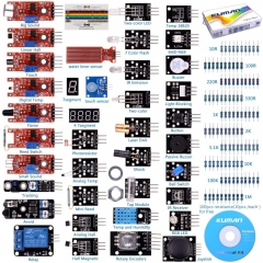 Kuman New Version 37 Sensor module robot project starter Kit for Arduino R3 Mega2560 Mega328 Nano Uno, Raspberry Pi RPi 3 2 Model B B+ K5