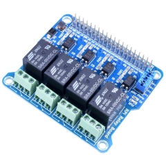 Kuman 4 Channel Raspberry Pi Expansion Board Power Relay Board Module for Raspberry Pi 3 2 A+ B+ 2B 3B K82
