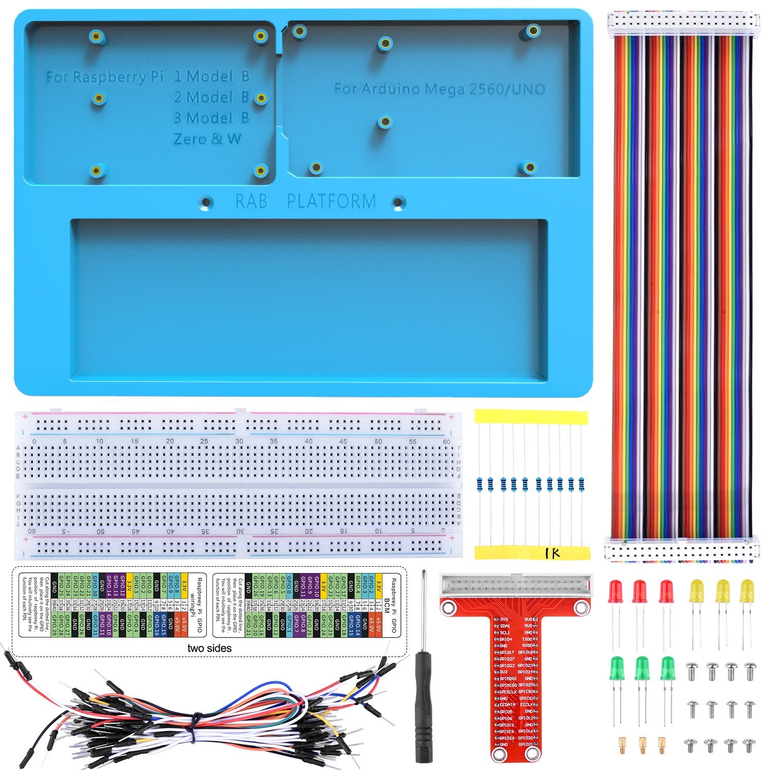 Kuman raspberry pi holder breadboard kit 7 in 1 rab holder kit for kuman raspberry pi holder breadboard kit 7 in 1 rab holder kit for arduino uno r3 mega 2560 raspberry pi 3 model b 2 model b1 model b rpi zerokits greentooth Image collections
