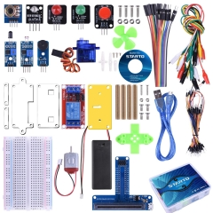 Starter Kit for BBC Micro:bit, Basic Coding Kit Includes Sensor, Expansion Board, Servo, Relay, Acrylic Protective case and Free Tutorial